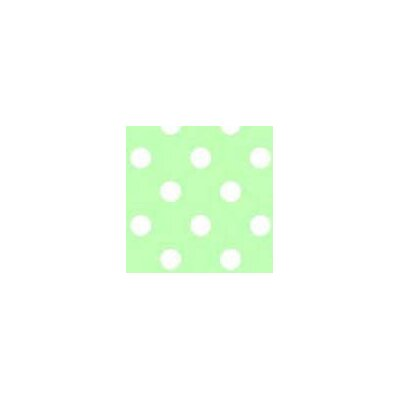 Pastel Polka Dots Woven Fabric By The Yard Color: Green