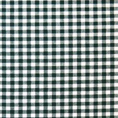 Gingham Check Fabric By The Yard Color: Hunter Green