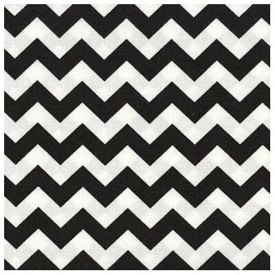 Chevron Zigzag Fabric By The Yard Color: Black