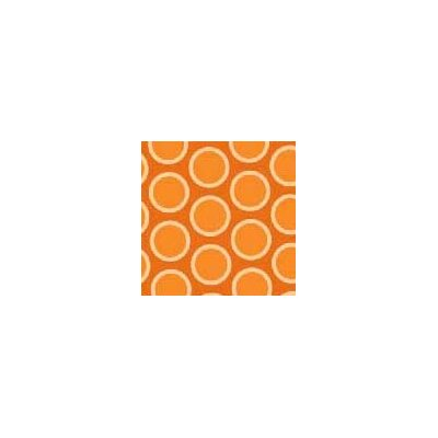 Primary Bubbles Woven Fabric By The Yard Color: Orange