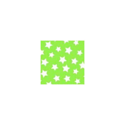 Primary Stars on Woven Fabric By The Yard Color: Green
