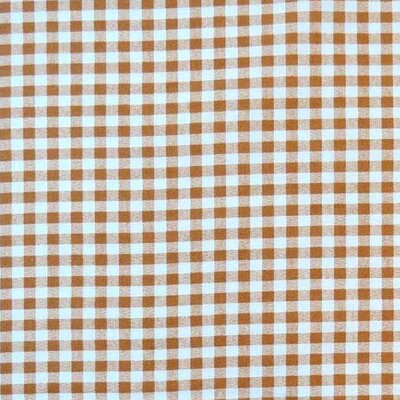 Gingham Check Fabric By The Yard Color: Beige