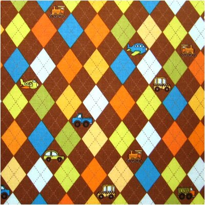 Argyle Transport Fabric By The Yard Color: Brown