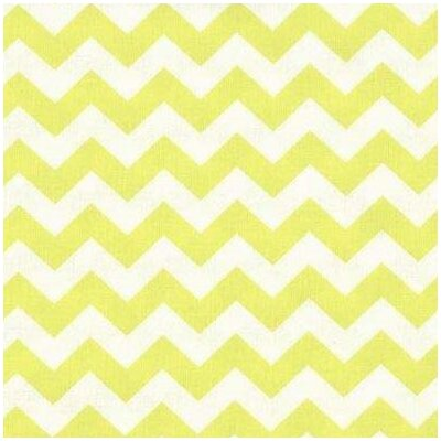 Chevron Zigzag Fabric By The Yard Color: Yellow