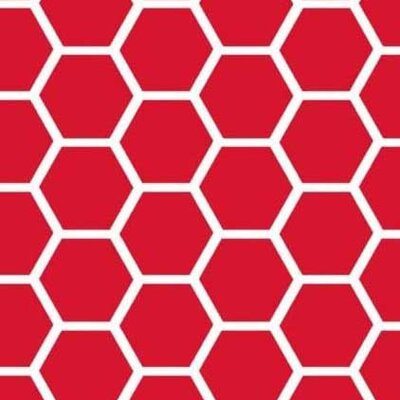 Honeycomb Fabric By The Yard Color: Red