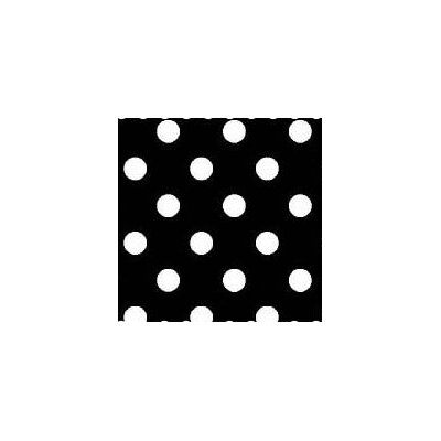 Primary Polka Dots Woven Fabric By The Yard Color: Black