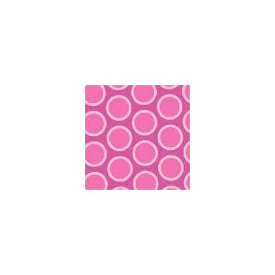 Primary Bubbles Woven Fabric By The Yard Color: Pink