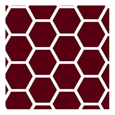 Honeycomb Fabric By The Yard Color: Burgundy