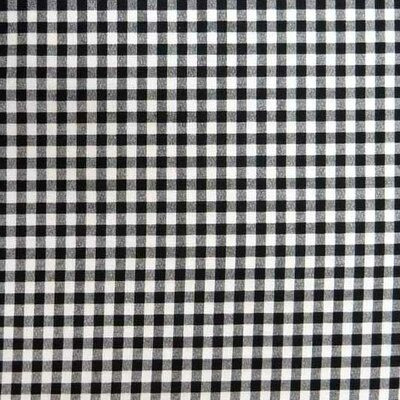 Gingham Check Fabric By The Yard Color: Black