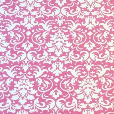Damask Fabric By The Yard Color: Pink