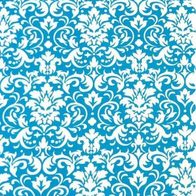 Damask Fabric By The Yard Color: Turquoise