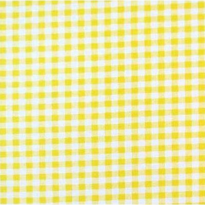 Gingham Check Fabric By The Yard Color: Yellow