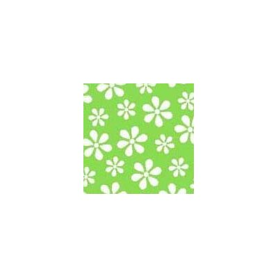Primary Floral Woven Fabric By The Yard Color: Green