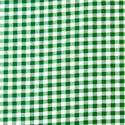 Gingham Check Fabric By The Yard Color: Green