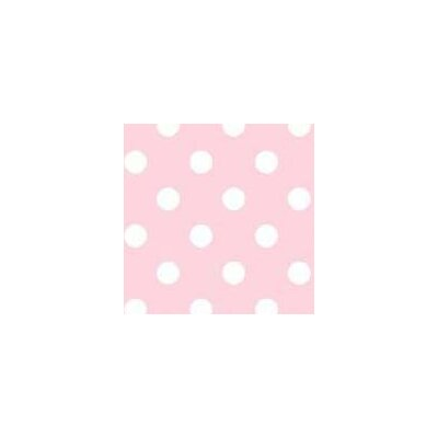 Pastel Polka Dots Woven Fabric By The Yard Color: Pink