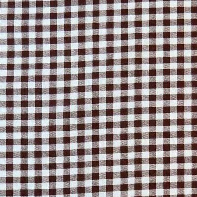 Gingham Check Fabric By The Yard Color: Brown