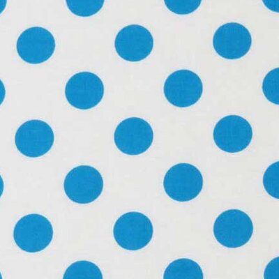 Polka Dots Fabric By The Yard Color: Turquoise