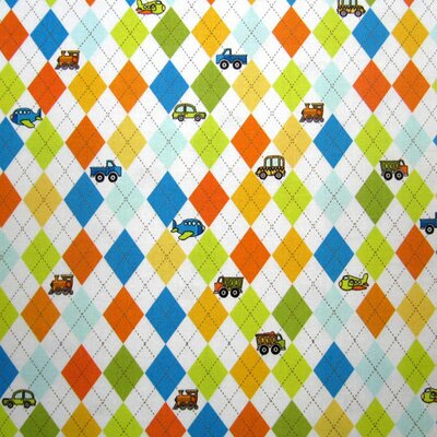 Argyle Transport Fabric By The Yard Color: White