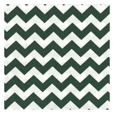 Chevron Zigzag Fabric By The Yard Color: Hunter Green