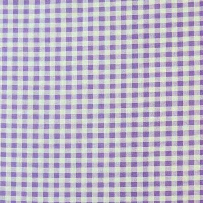Gingham Check Fabric By The Yard Color: Lavender