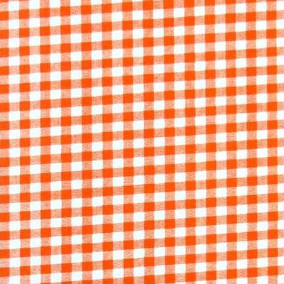 Gingham Check Fabric By The Yard Color: Orange
