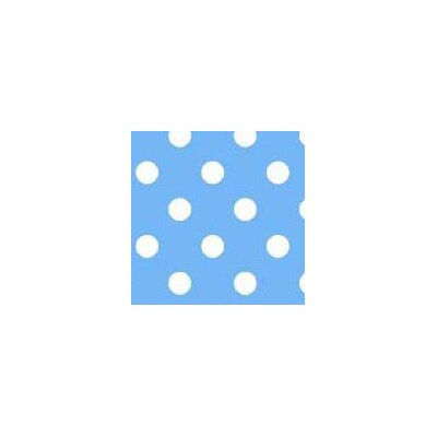 Primary Polka Dots Woven Fabric By The Yard Color: Blue