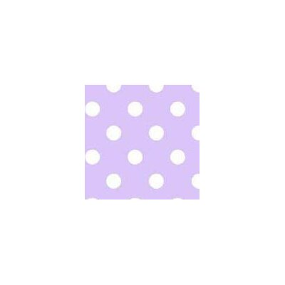 Pastel Polka Dots Woven Fabric By The Yard Color: Lavender