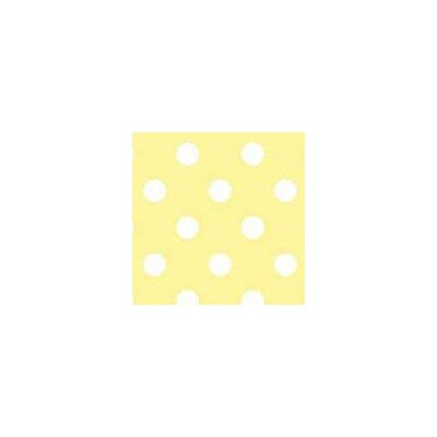 Pastel Polka Dots Woven Fabric By The Yard Color: Yellow