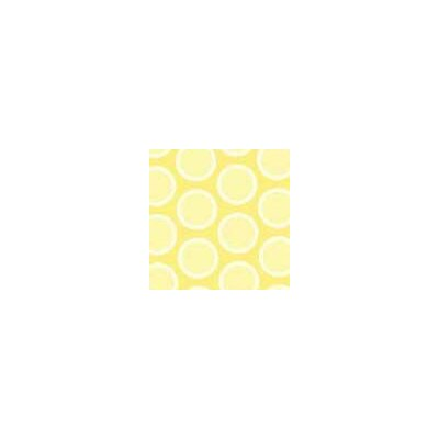 Pastel Bubbles Woven Fabric By The Yard Color: Yellow