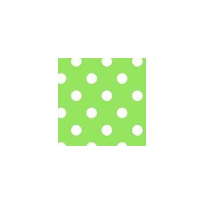 Primary Polka Dots Woven Fabric By The Yard Color: Green
