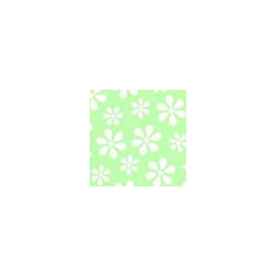 Pastel Floral Woven Fabric By The Yard Color: Green