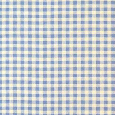 Gingham Check Fabric By The Yard Color: Blue