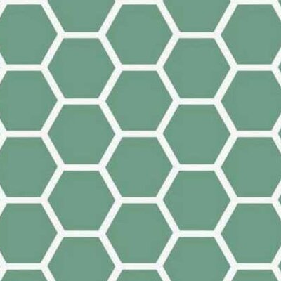 Honeycomb Fabric By The Yard Color: Seafoam Blue