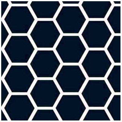 Honeycomb Fabric By The Yard Color: Navy