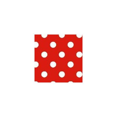 Primary Polka Dots Woven Fabric By The Yard Color: Red