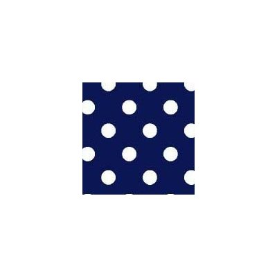 Primary Polka Dots Woven Fabric By The Yard Color: Navy