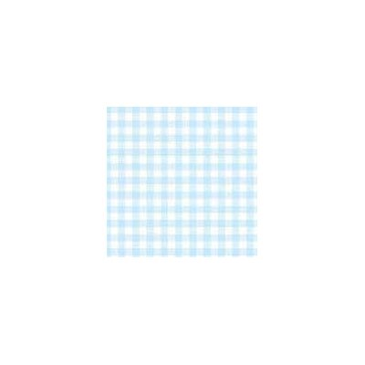 Pastel Gingham Woven Fabric By The Yard Color: Blue