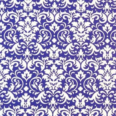 Damask Fabric By The Yard Color: Purple
