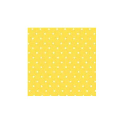 Primary Pindots Woven Fabric By The Yard Color: Yellow