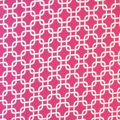 Links Fabric By The Yard Color: Hot Pink