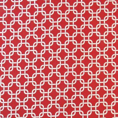 Links Fabric By The Yard Color: Red