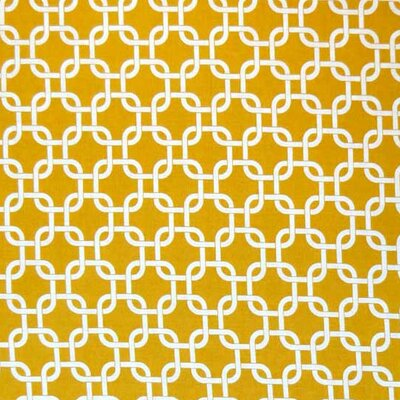 Links Fabric By The Yard Color: Mustard Yellow