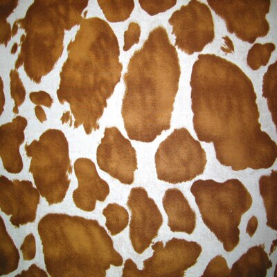 Cow Fabric By The Yard Color: Brown