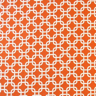 Links Fabric By The Yard Color: Orange