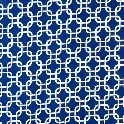Links Fabric By The Yard Color: Royal Blue