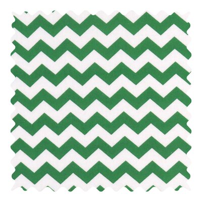 Chevron Zigzag Fabric By The Yard Color: Forest Green