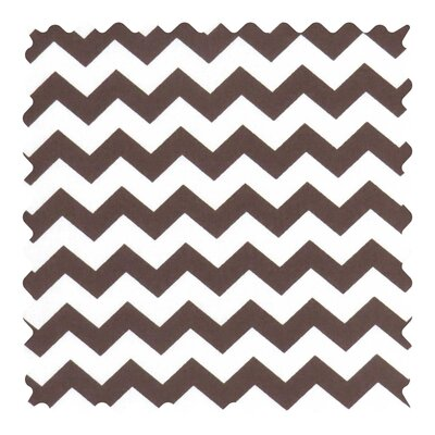 Chevron Zigzag Fabric By The Yard Color: Brown