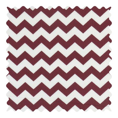 Chevron Zigzag Fabric By The Yard Color: Burgundy