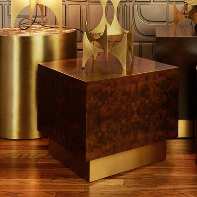 Milton Burl Cube End Table Size: Small