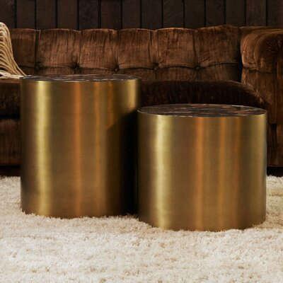 Conan Small Drum End Table Size: Small